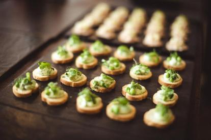 Canapes at Haagen Daz Event